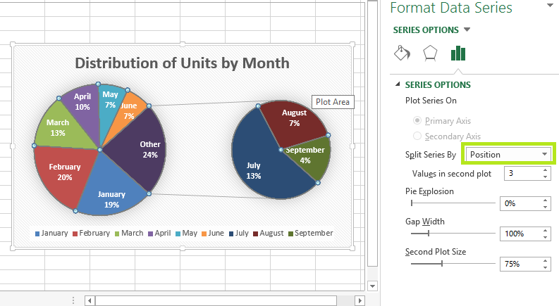 pie of pie chart in excel 3