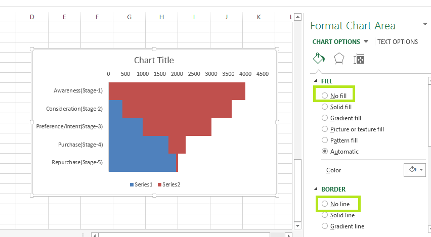funnel chart in excel 5