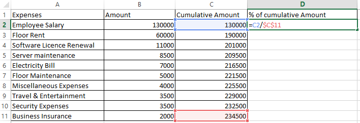 pareto chart in excel 5