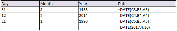 date function in excel 1