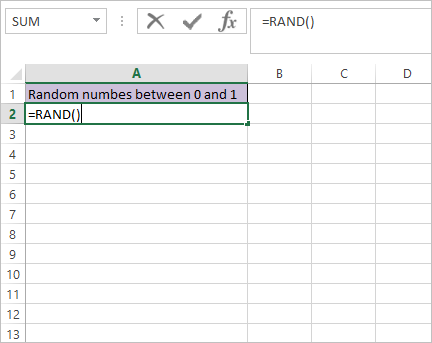 RAND Function in Excel 3
