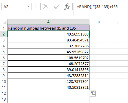 RAND Function in Excel 6