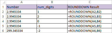 ROUNDDOWN FUNCTION IN EXCEL 1