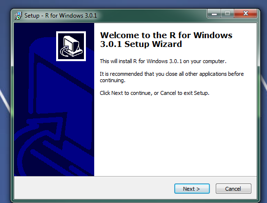 how to install r on windows 2