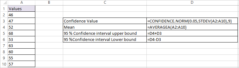 CONFIDENCE.NORM Function in Excel 1