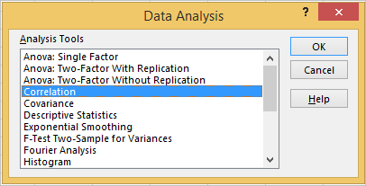 Correlation matrix in Excel 3