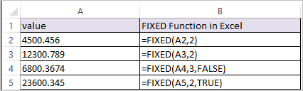 FIXED Function in Excel 1