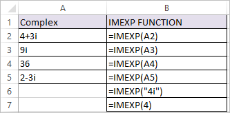 IMEXP Function in Excel 1