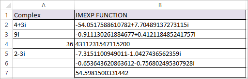 IMEXP Function in Excel 2