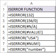 ISERROR Function in Excel 1