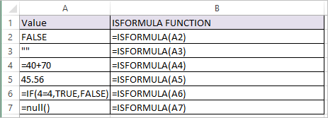 ISFORMULA Function in Excel 1