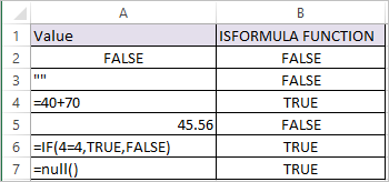 ISFORMULA Function in Excel 2