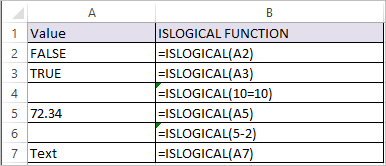 ISLOGICAL Function in Excel 1