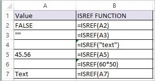 ISREF Function in Excel 1