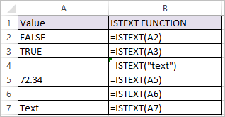 ISTEXT Function in Excel 1