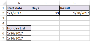 WORKDAY.INTL Function in Excel 4