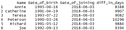Difference of two dates in R by days, weeks, months, quarter, year 2