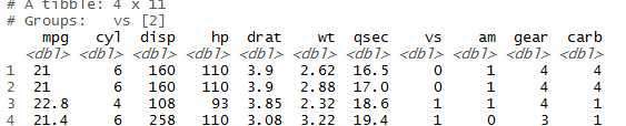head() and tail() function in r slice(),top_n() 10b