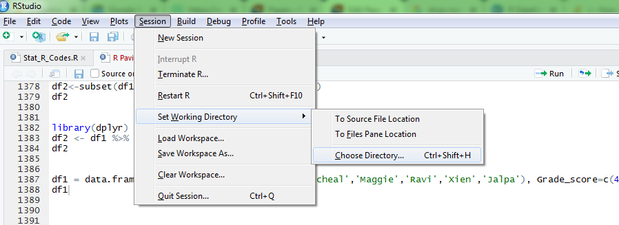 set working directory in R 11