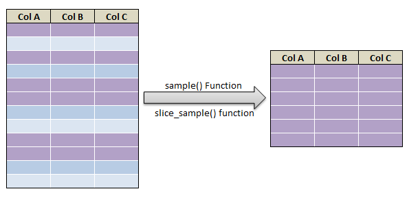 slice_sample and sample_frac() in R12